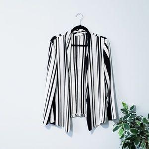 Lush Vertical Stripe Thin Blazer